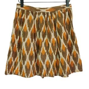 Mata Traders Printed Cotton Skirt Women's Size XS